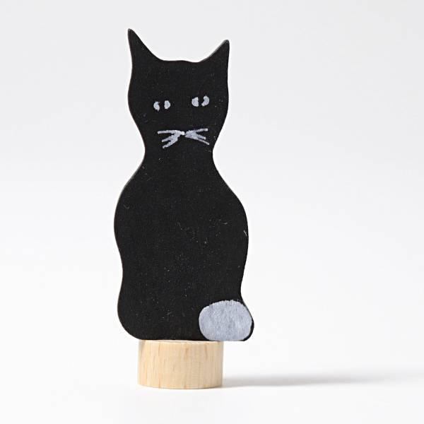 GRIMMS Steckfigur Schwarze Katze