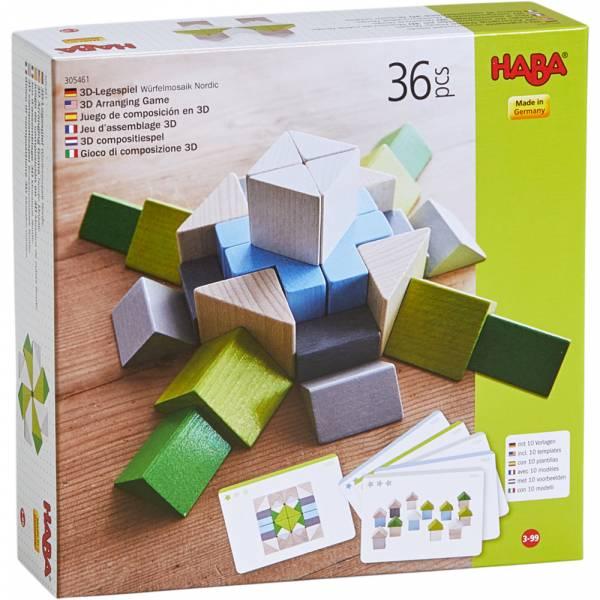 HABA 3D-Legespiel Würfelmosaik Nordic