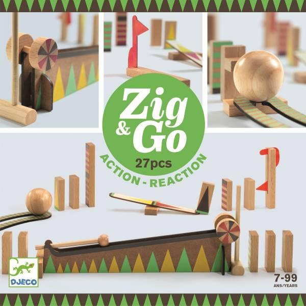 DJECO Zig & Go Murmelbahn 27 Teile