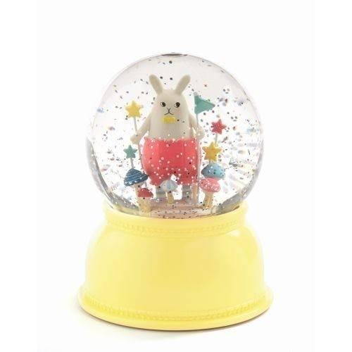 DJECO Nachtlicht Schneekugel kleiner Hase
