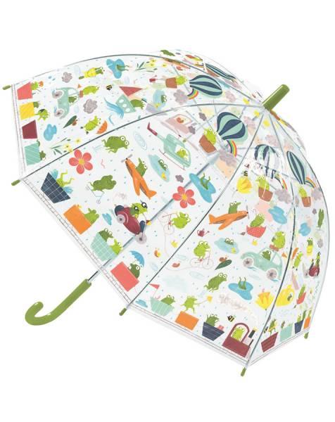 Regenschirm Fröschlein (transparent/bunt)