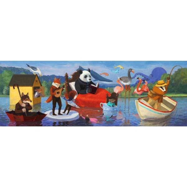 DJECO Puzzle Gallery Summer Lake (350 Teile)