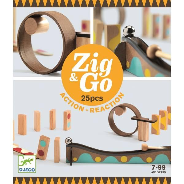 Zig & Go Murmel - Dominobahn 25 Teile