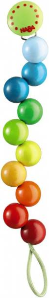 Schnullerkette Regenbogen-Perlen