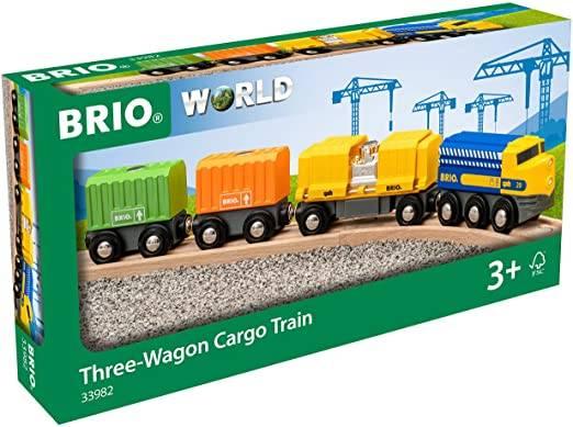 BRIO Güterzug mit drei Wagen