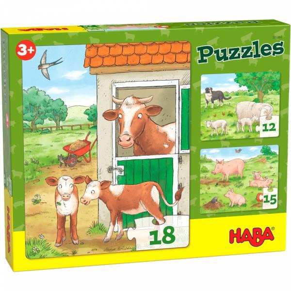 HABA Puzzles Bauernhoftierkinder