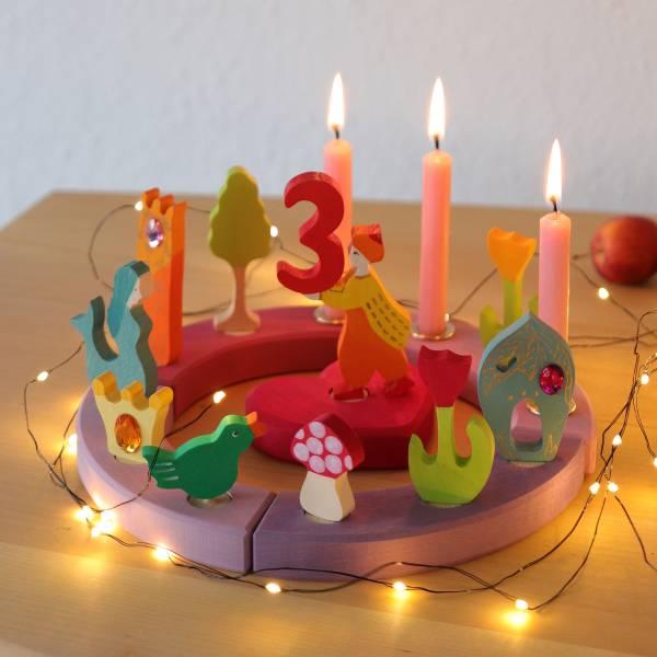 GRIMMS Kleiner Geburtstagsring Rosa-Violett