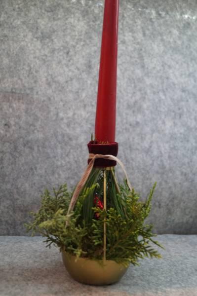 Kerzenhalter mit Schale gold