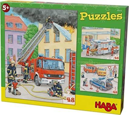 HABA Puzzles Einsatzfahrzeuge