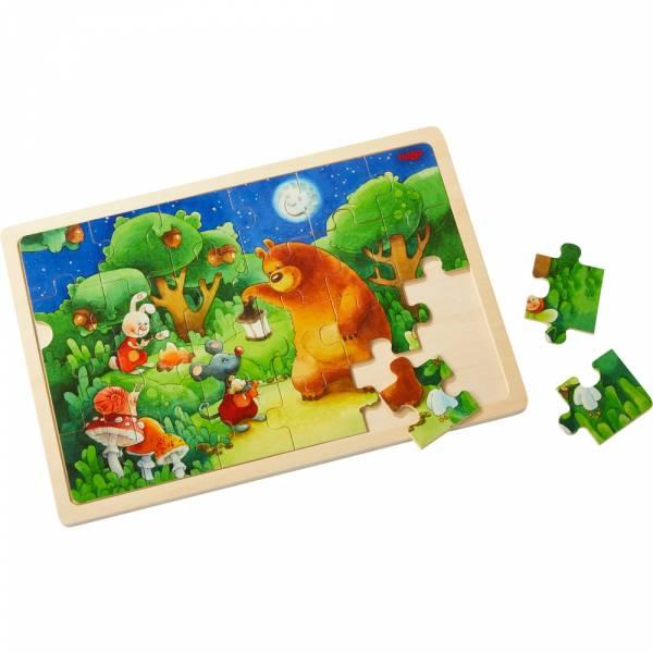 Holzpuzzle Nachtwächterbär