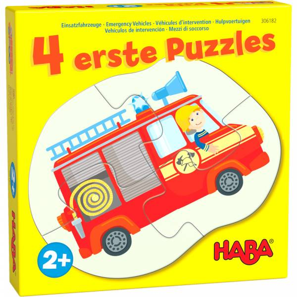 HABA 4 erste Puzzles – Einsatzfahrzeuge