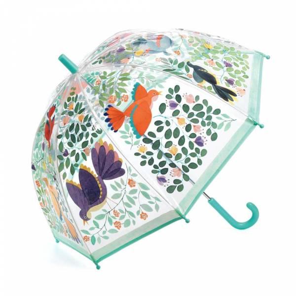 "Kinder Regenschirm ""Vögel und Blätter"""