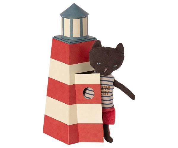MAILEG Leuchtturm mit Katze