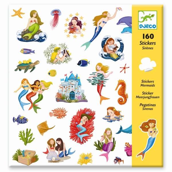 DJECO 160 Sticker: Meerjungfrauen