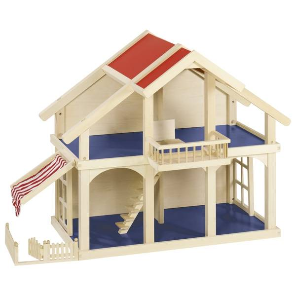 GOKI Puppenhaus (ohne Zubehör) mit Balkon und Veranda