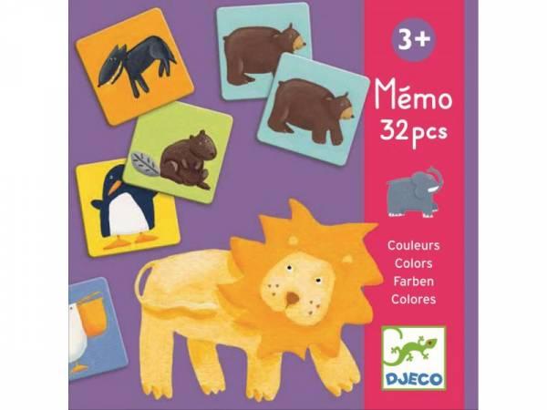 Djeco Memo - Bunte Tiere