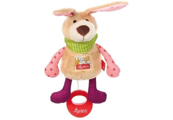 Spieluhr Hase (rosafarben)