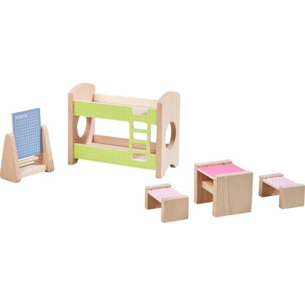 HABA Little Friends Puppenhausmöbel Kinderzimmer für Geschwister