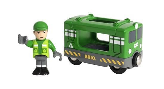 BRIO Frachtlok mit Fahrer