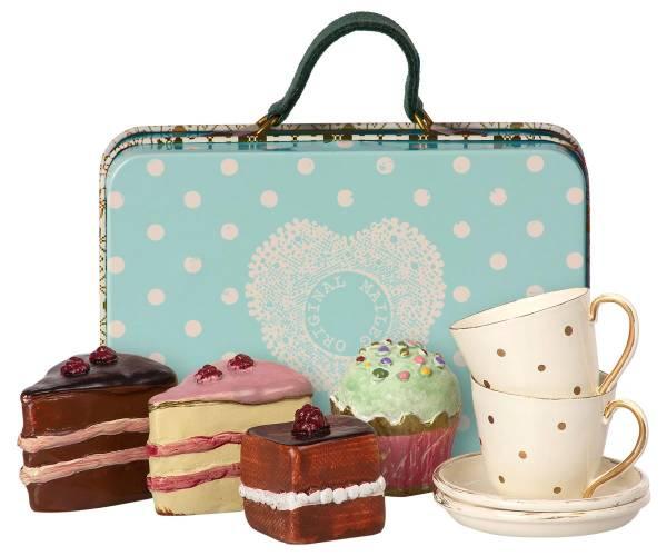 Koffer Kuchen & Geschirr für 2
