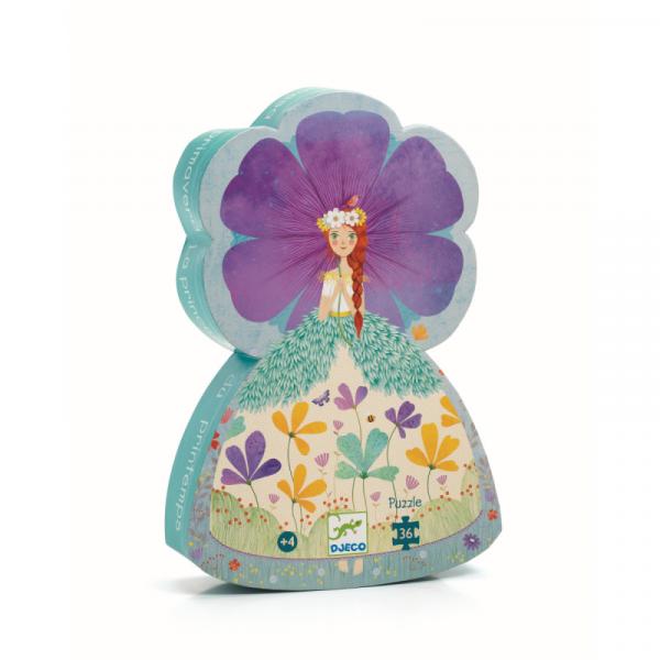 DJECO Silhouette Puzzle (36 Teile) Prinzessin des Frühlings