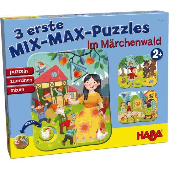3 erste Mix-Max-Puzzles – Im Märchenwald
