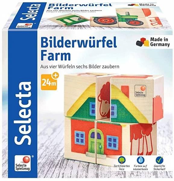 "Bilderwürfel ""Farm"", 4 Teile"