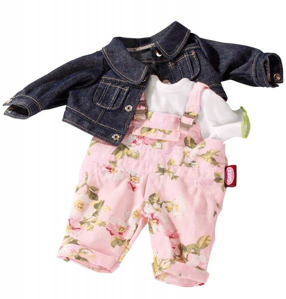 Set: Latzhose, Jeansjacke und Shirt (Puppen von 30 - 33 cm)