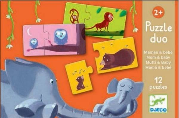 DJECO Lern-Puzzle: Mom and baby