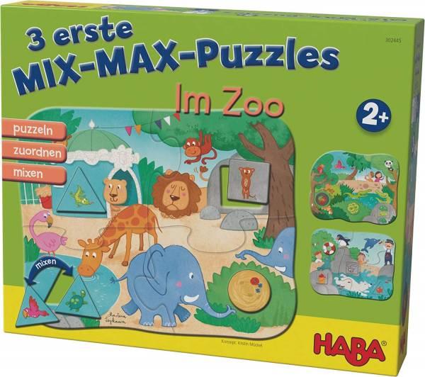 3 erste Mix-Max-Puzzles – Im Zoo