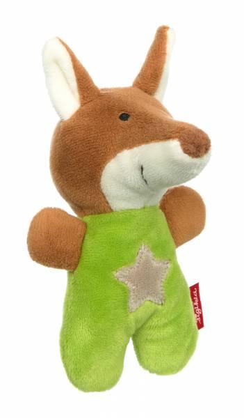 SIGIKID Baby Rassel Fuchs Red Stars