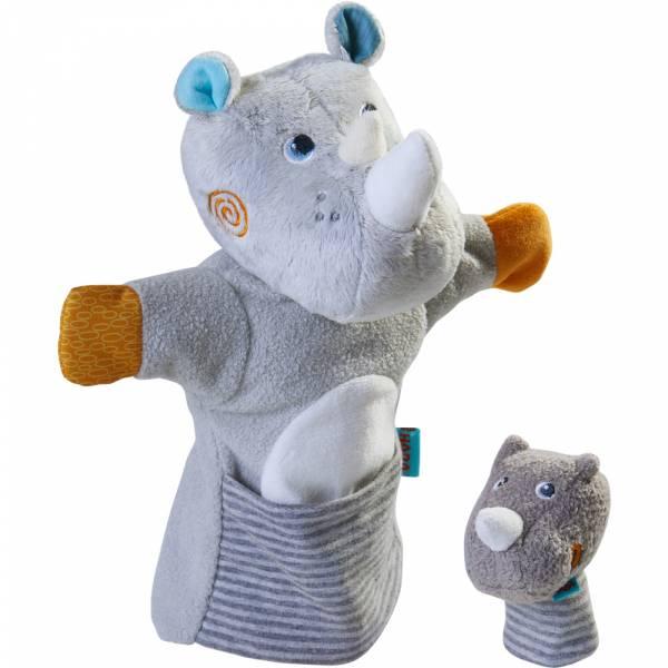 HABA Handpuppe Nashorn mit Baby