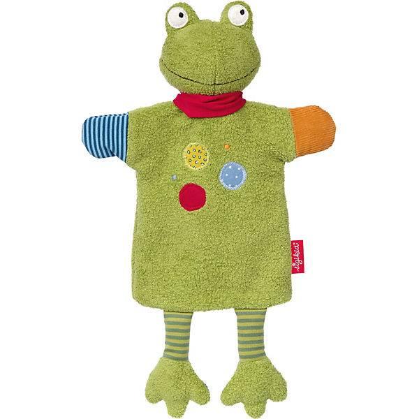 SIGIKID Schnuffeltuch Handpuppe Flecken Frog plus Kirschkernkissen