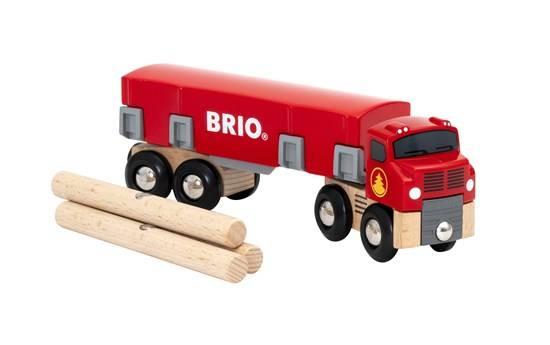 BRIO Holztransporter mit Magnetladung