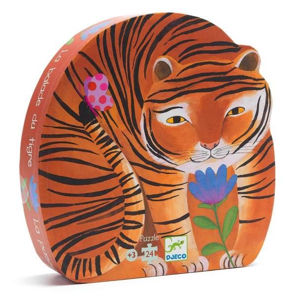 DJECO Formen Puzzle: The tiger's walk
