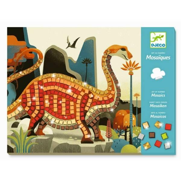 DJECO Mosaike: Metallische Dinosaurier