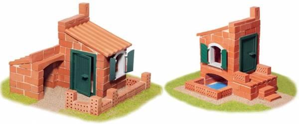 Steinbaukasten, 2 Häuser, 110 Teile