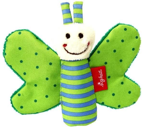 SIGIKID Knister-Schmetterling grün Red Stars