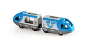 Blauer Reisezug (Batteriebetrieb)