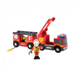 Feuerwehr-Leiterfahrzeug mit Licht & Sound - Junge