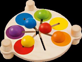 Farbenschubser, Variantenreiches Schiebemotorik-Brett